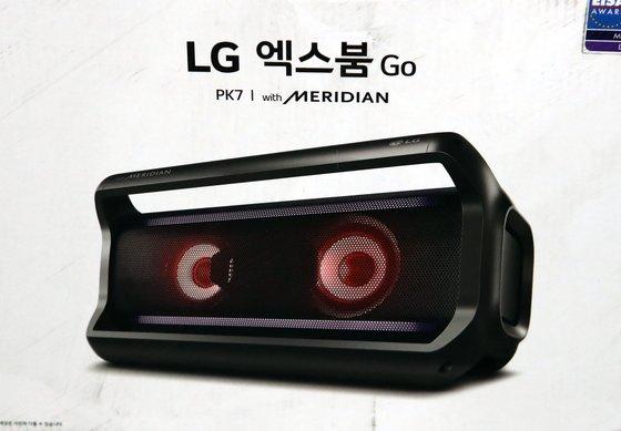 LG전자 창원공장의 LG엑스붐 블루투스 스피커
