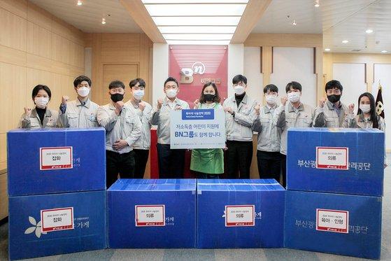 2007년부터 14년째 위아자 행사에 참여하고 있는 부산 향토기업인 비엔그룹. 송봉근 기자